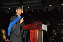 DJ Patil at the College's Commencement Ceremony in May.