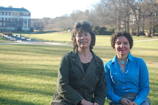 For 63 years and counting, Linda Dalo (left) and Cecilia Jordan have served the college and its students. Photo: Loretta Kuo.